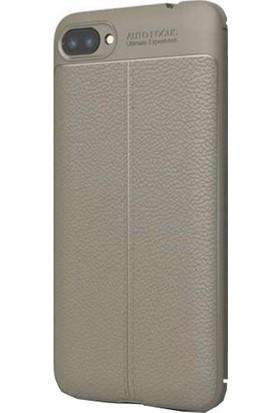 CoverZone Asus Zenfone 4 Max Kılıf ZC554KL Dermo Silikon Antrasit + Temperli Ekran Koruma