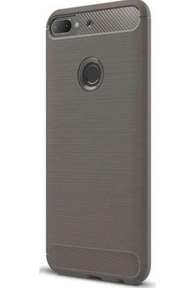 CoverZone HTC Desire 12 Kılıf Room Extereme Silikon Antrasit + Temperli Ekran Koruma