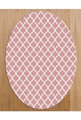 Markaev Milano Dekoratif Kaymaz Taban Oval Halı 100 x 140 cm