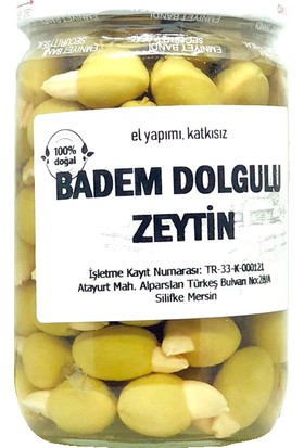 Silifke Sepeti Badem Dolgulu Zeytin 760 gr
