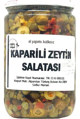Silifke Sepeti Kaparili Zeytin Salatası 760 gr