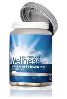 Oriflame Multivitamin ve Mineral Takviye Edici Gıda Erkek için WELLNESS