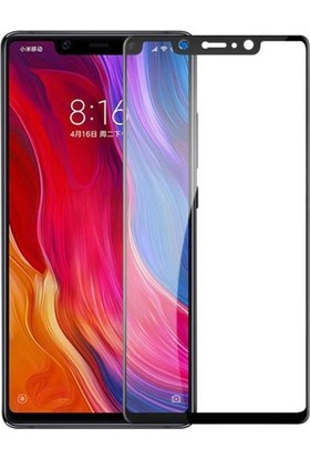 Dafoni Xiaomi Mi 8 SE Curve Tempered Glass Premium Full Siyah Cam Ekran Koruyucu