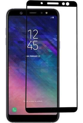 Dafoni Samsung Galaxy A8 Plus 2018 Curve Tempered Glass Premium Full Siyah Cam Ekran Koruyucu
