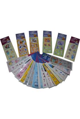 Disney Karakterleri Kabartmalı 3D Sticker Etiket 10 Paket Birden