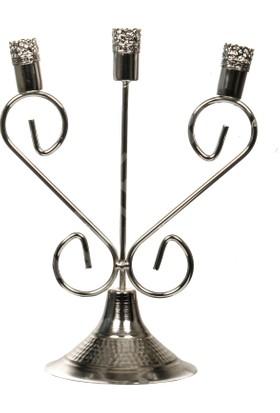 Primera 3 Lü Şamdan Mumluk Gümüş