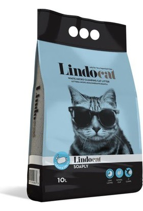 Lindo Cat Topaklaşan İri Taneli Sabunlu Kedi Kumu 10LT