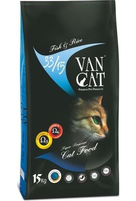 Vancat Balıklı Pirinçli Kuru Kedi Maması 15 kg