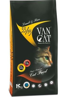 Vancat Kuzulu Pirinçli Kuru Kedi Maması 15 kg