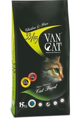 Vancat Tavuklu Pirinçli Kuru Kedi Maması 15 kg