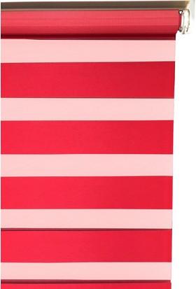 Evrem SD2127 0118 Kırmızı Zebra Perde Etek Dilimli 40x200