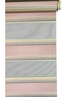 Evrem SD00526 0008 Pembe Zebra Perde Etek Dilimli 40x200