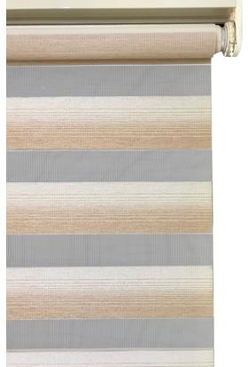 Evrem SD00429 0102 Kahverengi Zebra Perde Etek Dilimli 50x200