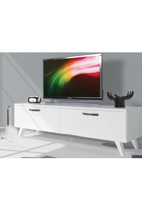 Bino Tv Sehpası 120 Cm Tv Sehpası Tv Ünitesi Beyaz
