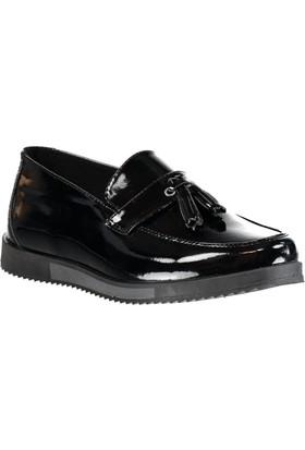 Carrano C201601 Günlük Erkek Ayakkabı Siyah Rugan Siyah Füme