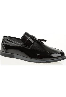 Carrano G12003 Günlük Erkek Ayakkabı Siyah Rugan Füme