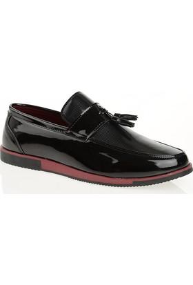 Carrano G12005 Günlük Erkek Ayakkabı Siyah Rugan Bordo