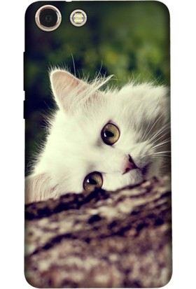Kılıfland Vestel Venüs V4 Silikon Arka Kapak - Beyaz Kedi