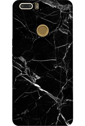 Kılıfland Vestel Venüs Z20 Desenli Esnek Silikon Arka Kapak - Mermer Siyah