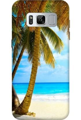 Kılıfland Samsung Galaxy S8 Plus Silikon Arka Kapak - Beach