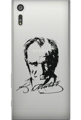 Kılıfland Sony Xperia XZ Silikon Arka Kapak - Atatürk