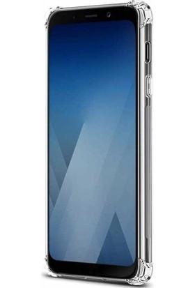 Teleplus Samsung Galaxy A6 2018 Plus Darbe Korumalı Silikon Kılıf Şeffaf