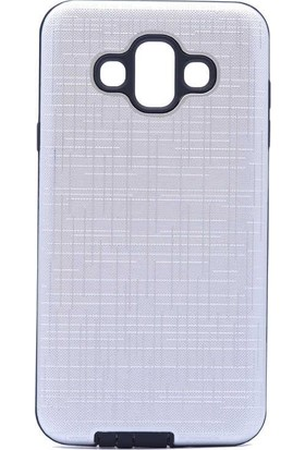 Teleplus Samsung Galaxy J7 Duo Tıpalı Darbe Koruma Silikon Kılıf Gümüş