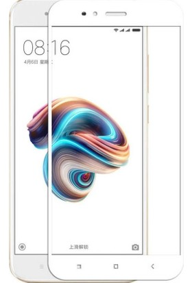 Teleplus Xiaomi Mi 5X 5D Tam Kapatan Ekran Koruyucu Cam Beyaz