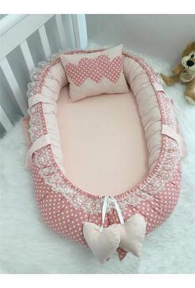 Modastra Babynest Puantiye ve Pudra Kombin Lüx Baby Nest
