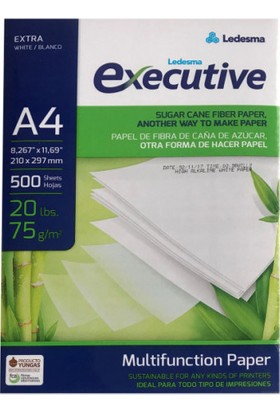 Ledesma Executive A4 Fotokopi Kağıdı 1 Paket 500 Sayfa 75 Gr