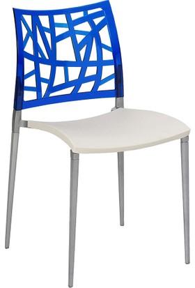 Tilia Neptün Pc Sandalye Krem- Mavi
