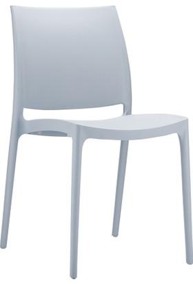 Siesta Contract Maya Sandalye Gümüş Gri