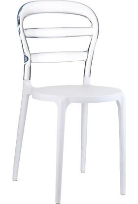 Siesta Contract Miss Bibi Sandalye Beyaz/Şeffaf