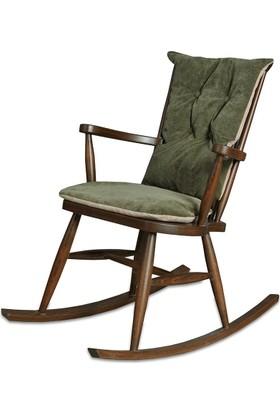 Moon Design Teksas Küçük Ceviz Sallanan Sandalye