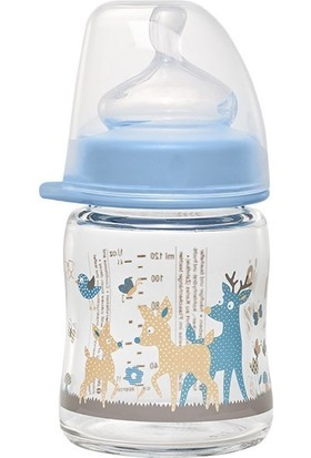 Nip Wide Neck Bottle 120 ml Antikolik Cam Biberon Erkek