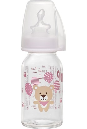 Nip Wide Neck Bottle 125 ml Antikolik Cam Biberon Kız