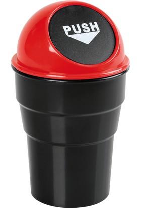 Lampa Push-Bin Araç İçi Çöp Kovası Kırmızı (ABS) 365458