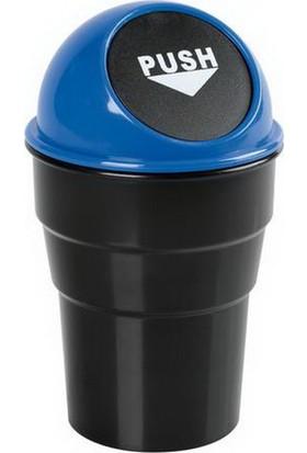 Lampa Push-Bin Araç İçi Çöp Kovası Mavi (ABS) 65458
