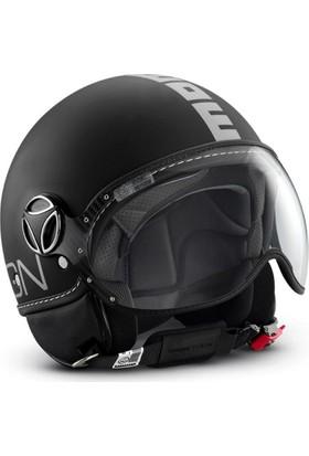 Momo Design Fgtr Classic Mat Siyah, Beyaz Logo XLarge Kask