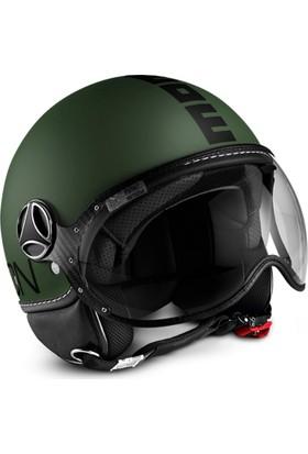 Momo Design Fgtr Classic Mat Yeşil, Siyah Logo Large Kask
