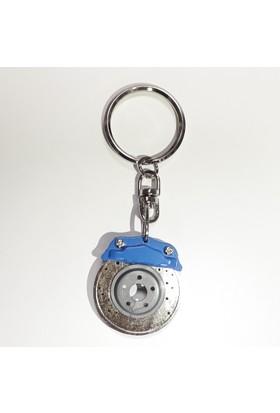 Bottari Disk Anahtarlık Mavi 13391