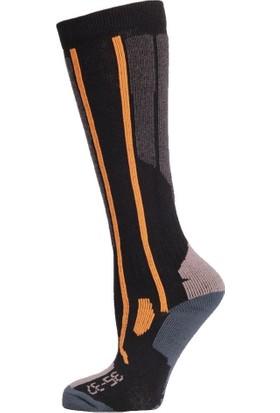 Panthzer Ski Kadın Çorap Siyah/Kırmızı