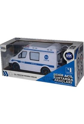 Candy Oyuncak Uzaktan Kumandalı Şarjlı Meslek Araçları Işıklı Polis Arabası