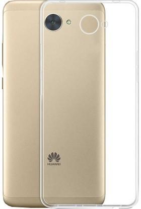 CoverZone Huawei Y7 Kılıf Silikon Kapak Şeffaf