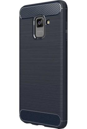 CoverZone Samsung Galaxy A6 2018 Kılıf Room Silikon Lacivert