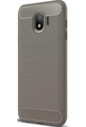 CoverZone Samsung Galaxy J4 Kılıf Room Silikon Kapak Antrasit