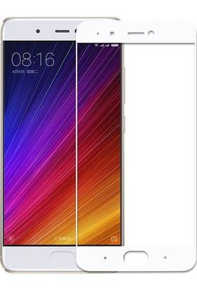 CoverZone Xiaomi Mi 5X 3D Tam Kaplayan Cam Beyaz