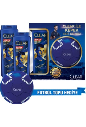 Clear Erkek Şampuan Champion Fresh 2 Adet 550 Ml Avantaj Paketi Futbol Topu Hediyeli