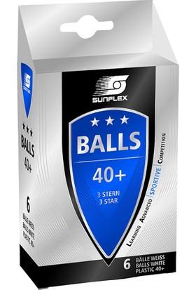 Sunflex Beyaz Pinpon Topu 23603 Non Celluloid Tt Ball 3 Star