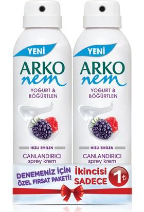 Arko Nem Sprey Krem Yoğurt & Böğürtlen Süper Fırsat Paketi 2x150 ml